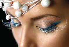 Weihnachtsfeiertags-Make-up lizenzfreie stockfotografie