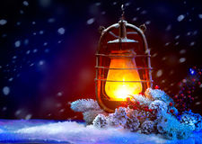 Weihnachtsfeiertags-Szene stockbilder