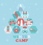 Weihnachtsfeiertags-und -reise-themenorientiertes Lagerplakat vektor abbildung
