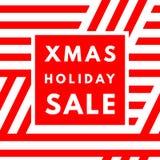 Weihnachtsfeiertags-Verkaufsplakat stock abbildung
