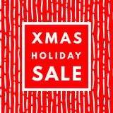 Weihnachtsfeiertags-Verkaufsplakat lizenzfreie abbildung