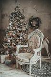 Weihnachtsfeiertags-Weinlesedekorationen stockbilder