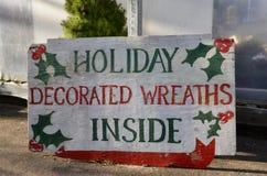 Weihnachtsfeiertags-Zeichen stockfotografie