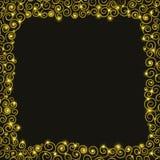 Weihnachtsfeiertagshintergrund mit goldenen Spiralen Lizenzfreie Stockbilder