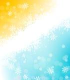 Weihnachtsfeiertagshintergrund mit Schneeflocken Lizenzfreie Stockfotos
