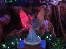 Weihnachtsfeiertagsinstallations-Engelskerze Stockfotografie