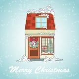 Weihnachtsfeiertagskarte Stockbilder