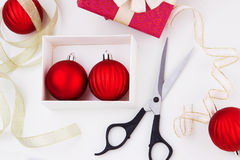 Weihnachtsfeiertagsvorbereitungen. Planung des neuen Jahres lizenzfreie stockbilder