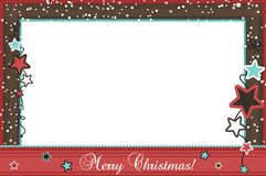 Weihnachtsfeld stock abbildung