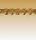 Weihnachtsfeld mit Kugeln Stockbilder