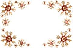 Weihnachtsfeld mit Schneeflocken Stockbild