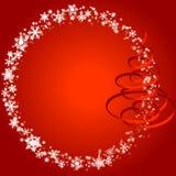 Weihnachtsfeld mit snowlakes Stockbild