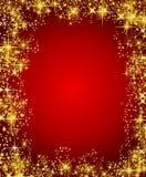 Weihnachtsfeld mit Sternen Lizenzfreie Stockfotos