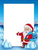 Weihnachtsfeld mit Weihnachtsmann 1 Lizenzfreies Stockfoto