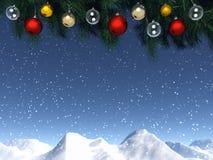 Weihnachtsfenster Lizenzfreie Stockfotos