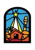 Weihnachtsfenster Bethlehem Lizenzfreie Stockfotos