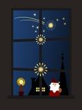 Weihnachtsfenster (ii) Lizenzfreie Stockfotografie