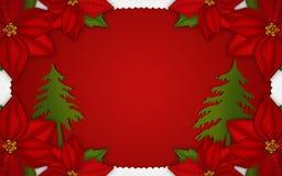 Weihnachtsfensterillustration Lizenzfreies Stockfoto