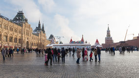 Weihnachtsferien auf dem Roten Platz Stockfoto