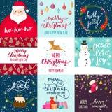 Weihnachtsfest invintation Vektorkartenhintergrund-Designschablone für noel Weihnachtsfeiertagsfeier clipart neues Jahr Lizenzfreie Stockbilder