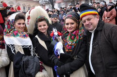Weihnachtsfest Malanka Fest_12 Stockfotos