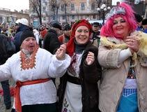 Weihnachtsfest Malanka Fest_11 Stockfotos