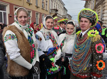 Weihnachtsfest Malanka Fest_21 Stockfotografie