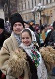 Weihnachtsfest Malanka Fest_38 Stockfotografie