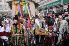 Weihnachtsfest Malanka Fest_48 Stockfotos