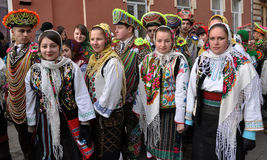 Weihnachtsfest Malanka Fest_23 Stockfotos