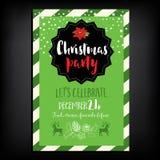 Weihnachtsfesteinladung Mit zusätzlichem vektorformat Lizenzfreie Stockbilder