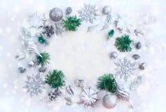 Weihnachtsfestliche Anordnung für dekorative Elemente Lizenzfreie Stockbilder