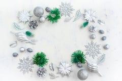 Weihnachtsfestliche Anordnung für dekorative Elemente Lizenzfreie Stockfotos