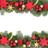 Weihnachtsfestliche Hintergrund-Grenze Stockbild
