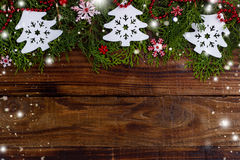 Weihnachtsfestlicher Hintergrund Lizenzfreies Stockfoto