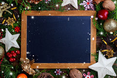Weihnachtsfestlicher Hintergrund Stockfoto