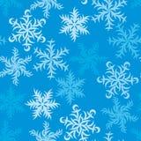 Weihnachtsfestliches Muster von Snowflakes_01 Stockfotografie