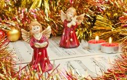 Weihnachtsfigürchen von Engeln Lizenzfreie Stockfotografie