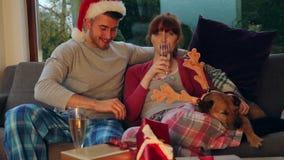 Weihnachtsfilm-Zeit stock footage
