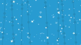 Weihnachtsflacher blauer Hintergrund stock video footage