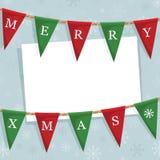 Weihnachtsflaggedekoration Lizenzfreies Stockbild
