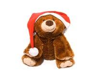 Weihnachtsflaumiger Bär Stockfotografie