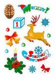 Weihnachtsfleckenausweise, Aufkleber Lizenzfreie Stockbilder