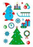 Weihnachtsfleckenausweise, Aufkleber Stockfotografie