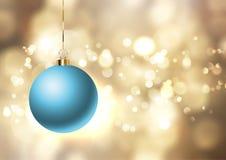 Weihnachtsflitter auf goldenem Lichthintergrund lizenzfreie abbildung
