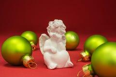 Weihnachtsflitter mit Engel Stockbild