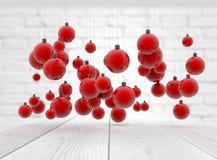Weihnachtsflitter mit Reflexion Lizenzfreies Stockbild