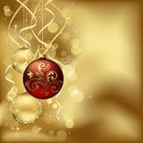 Weihnachtsflitter mit undeutlichen Leuchten Stockfoto