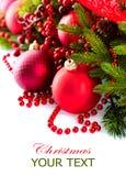 Weihnachtsflitter und -dekorationen Lizenzfreies Stockbild