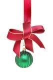 Weihnachtsflitter und -farbband Lizenzfreie Stockfotografie